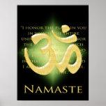 OM en el negro y el oro - Namaste Poster