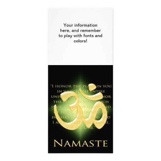 OM en el negro y el oro - Namaste Tarjeta Publicitaria Personalizada