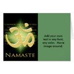 OM en el negro y el oro - Namaste Tarjetas
