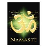 OM en el negro y el oro - Namaste Tarjetón