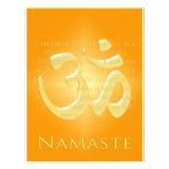 OM en los naranjas y el oro - Namaste Flyer Personalizado