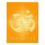 OM en los naranjas y el oro - Namaste Invitación