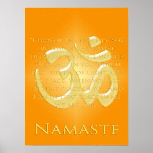 OM en los naranjas y el oro - Namaste Posters