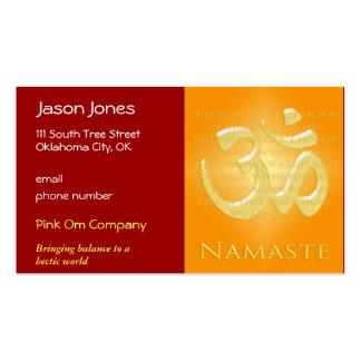 OM en los naranjas y el oro - Namaste Tarjeta De Visita