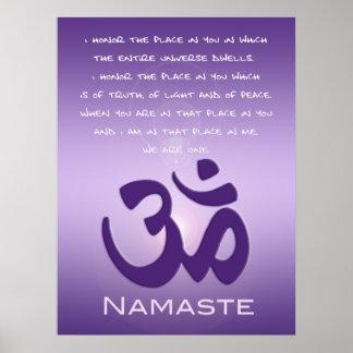 OM en púrpuras - Namaste Impresiones