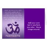 OM en púrpuras - Namaste Tarjeta De Felicitación
