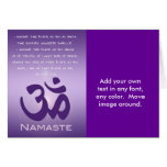 OM en púrpuras - Namaste Tarjetón