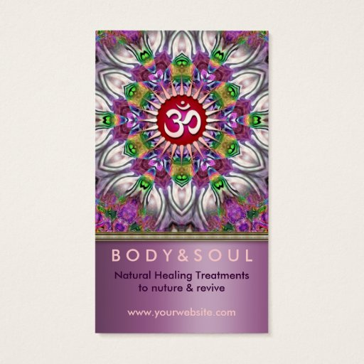 Om Energy Yoga Healing Star Business Card
