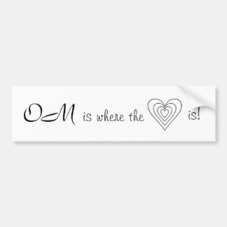 ¡OM es donde está el corazón! Pegatina Para Auto
