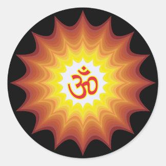 OM espiritual diseña Etiquetas Redondas