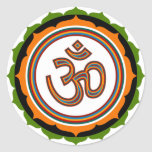 OM espiritual en Lotus firma a los pegatinas