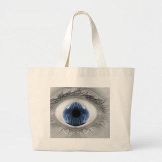 Om-Eye Blue Tote Bag