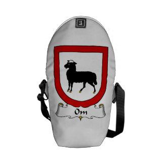 Om Family Crest Courier Bag