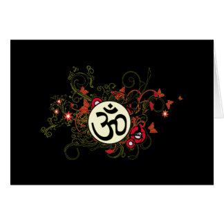 OM floral budista Felicitaciones