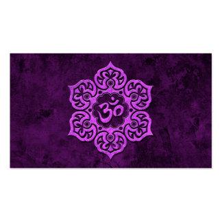 OM floral de piedra púrpura Plantillas De Tarjeta De Negocio