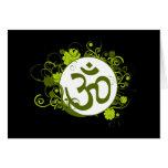 OM floral verde budista Felicitaciones