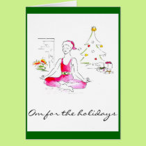 Om For the Holidays Greeting Card