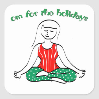 Om for the Holidays Square Stickers