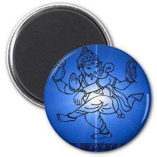 Om-Gan-Ganpataye-Namah 2 Inch Round Magnet