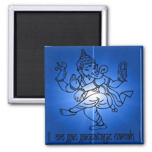 Om-Gan-Ganpataye-Namah 2 Inch Square Magnet