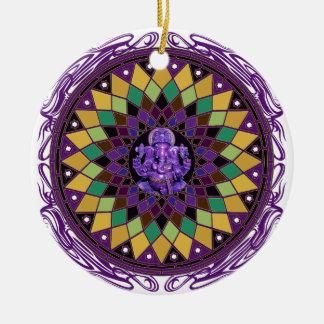 Om Ganesh Mandala Ceramic Ornament