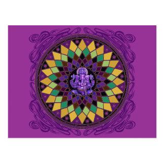 Om Ganesh Mandala Postcard