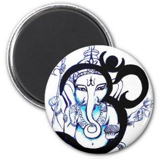 OM - Ganesha Imán Redondo 5 Cm