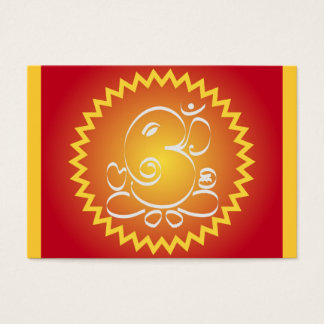 Om Ganesha with yellow star Business Card