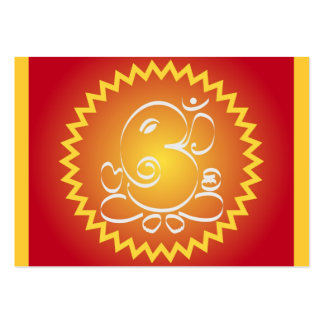Om Ganesha with yellow star Large Business Card