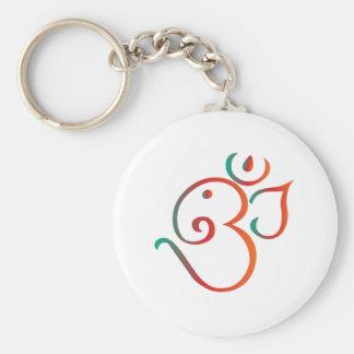 Om-ganpati-green-orange Keychain