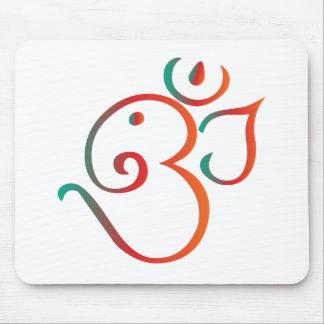 Om-ganpati-green-orange Mouse Pad