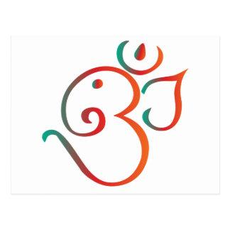 Om-ganpati-green-orange Postcard