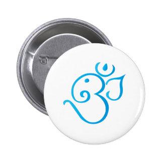 Om-ganpati-turqoise 2 Inch Round Button