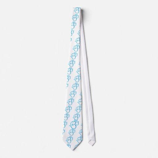 Om-ganpati-turqoise Neck Tie