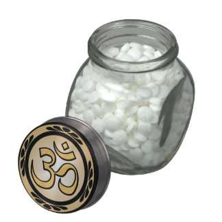 OM Gold and Black Candy Tin or Jar