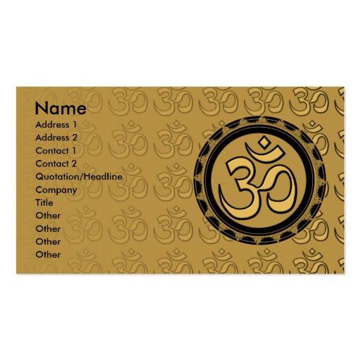 Om Gold Business Cards 2