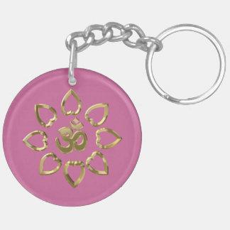 Om golden symbol keychain