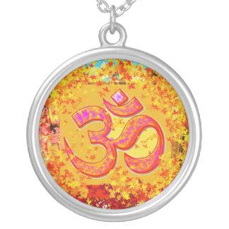 OM Gurumantra Round Pendant Necklace