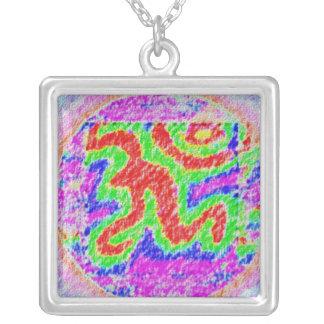 OM Gurumantra Square Pendant Necklace