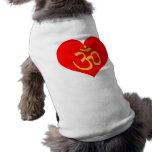 om heart dog shirt