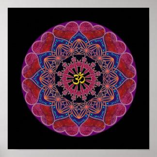Om Heart Mandala Print