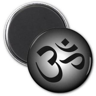 OM hindú - símbolo de la meditación Imanes De Nevera