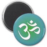 OM hindú - símbolo de la meditación Imán De Frigorífico