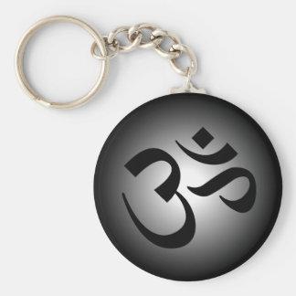 OM hindú - símbolo de la meditación Llavero Redondo Tipo Pin