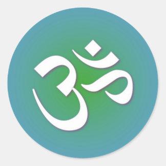 OM hindú - símbolo de la meditación Pegatinas Redondas