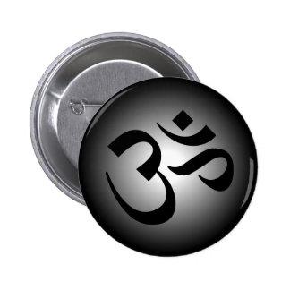 OM hindú - símbolo de la meditación Pin Redondo 5 Cm