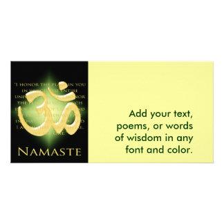 Om in Black & Gold - Namaste Card