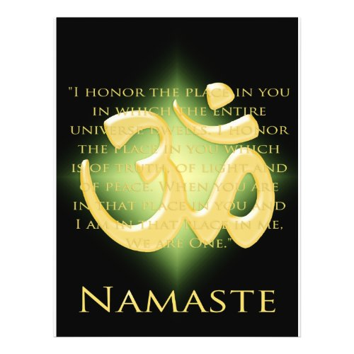 Om in Black & Gold - Namaste flyer