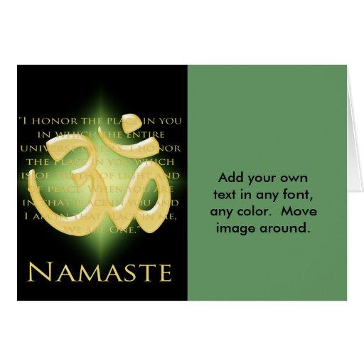 Om in Black & Gold - Namaste Greeting Card