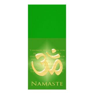 Om in Green & Gold - Namaste Rack Card